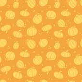 Thanksgiving golden pumpkins seamless pattern background