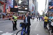 Cyclists gets redirected by NYPD