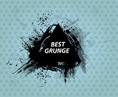 Grunge background. Grunge banner with an inky dribble strip with copy space. Abstract background for party
