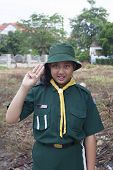 Thai Girl Scout Green Uniform