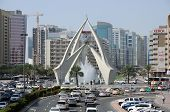 Tower Clock Roundabout In Dubai