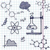 Vector Hand draw chemistry elements