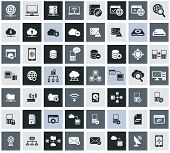 Networking, storage and Communication icon set,vector