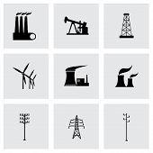 Vector black energeticsl icons set
