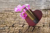 Bullet With A Heart Decorated Like A Gift