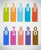 Numbers Set.paper cut