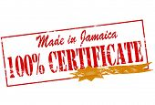 Made In Jamaica One Hundred Percent Certificate