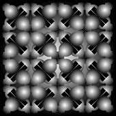 Seaimless Graphic Composition With Balls