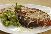 steak parmigiana with pasta
