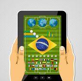 Brazil Soccer Tablet Infographic