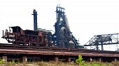 picture of blast-furnace  - STEEL PLANT RAILROAD Blast furnace - JPG
