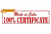 Made In Cuba One Hundred Percent Certificate