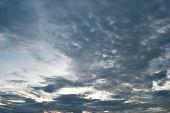 Background Dramatic Dark Sky With Sun Rays