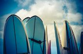 picture of watersports  - Retro Style Photo Of Vintage Hawaiian Surf Boards - JPG