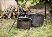 Old Pots For Cooking On Camping