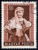Postage Stamp Hungary 1953 Woman From Ersekcsanad