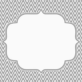 image of chevron  - Gray and White Chevron Zigzag Frame Background with center for copy - JPG