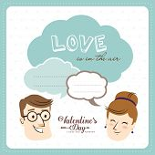 Love is in the air. Valentine's card with text space for your message