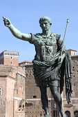 stock photo of tyranny  - The statue of emperor Augustus in Rome  - JPG