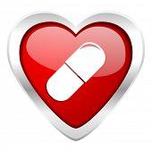 drugs valentine icon medical sign