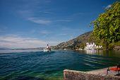 Steam Boat Moving On Lake Lucerne