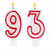 Birthday Candles Number Ninety Three