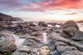 Trevellas porth sunset