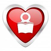 book valentine icon reading room sign bookshop symbol