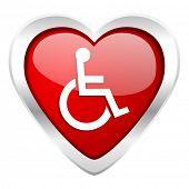 picture of wheelchair  - wheelchair valentine icon   - JPG