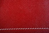 Red Stitched Leather