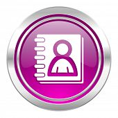 address book violet icon