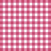 Flat easy tilable red and white gingham pattern