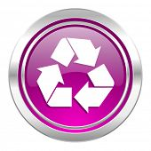 recycle violet icon recycling sign