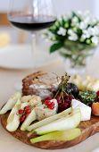 Fruit cheese platter. Cheeseboard