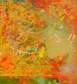 Nice Abstract Original oil Painting mixed media on Paper