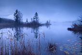 Alpine Lake Barmsee In Dusk