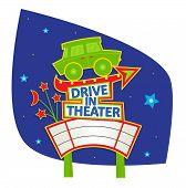 Drive In Theater Sign