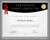 foto of dots  - Certificate of computer programming course completion on dotted paper in vector - JPG