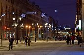Malaya Konyushennaya Street In Petersburg, Russia