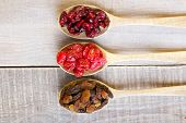 Dried Cranberry, Cherry, Raisin