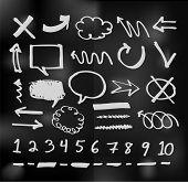 vector hand drawn speech bubbles doodles chalkboard
