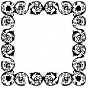 Vector illustration of a decorative frame