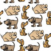 dogs seamless pattern on white
