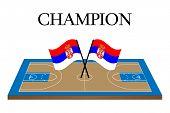 Basketball Champion Court Serbia