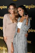 LOS ANGELES - JAN 6:  Christina Milian, Karrueche Tran at the FOX TV