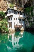 Dervish house in Blagaj Buna near to Historical Mostar in Bosnia and Herzegovina