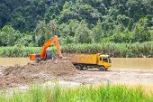 picture of monster-truck  - Monster machines working on site at Thailand - JPG