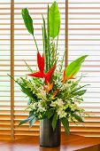 picture of bird paradise  - Bird of paradise flower in vase arrangement - JPG