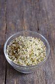 Organic Hulled Hemp Seeds in a Bowl