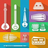 Flat Indian Instruments